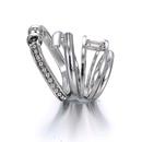 Copper Fashion Geometric Ring  Alloy NHTF0178Alloy