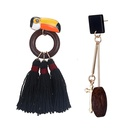 Alloy Fashion Animal earring  Alloy + Black NHTF0233AlloyBlack