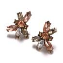 Alloy Fashion Geometric earring  Alloy + Water Lotus Red NHTF0322AlloyWaterLotusRed