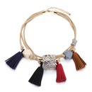 Alloy Fashion Geometric necklace  Mixed color NHTF0334Mixedcolor