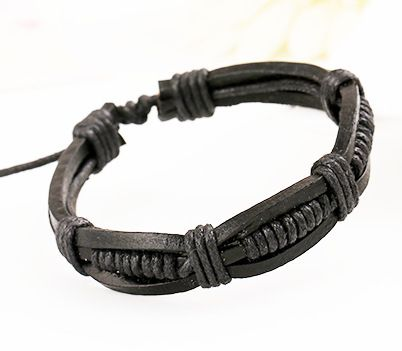 Exotic Cortical Geometric Bracelet  black  NHPK0370black