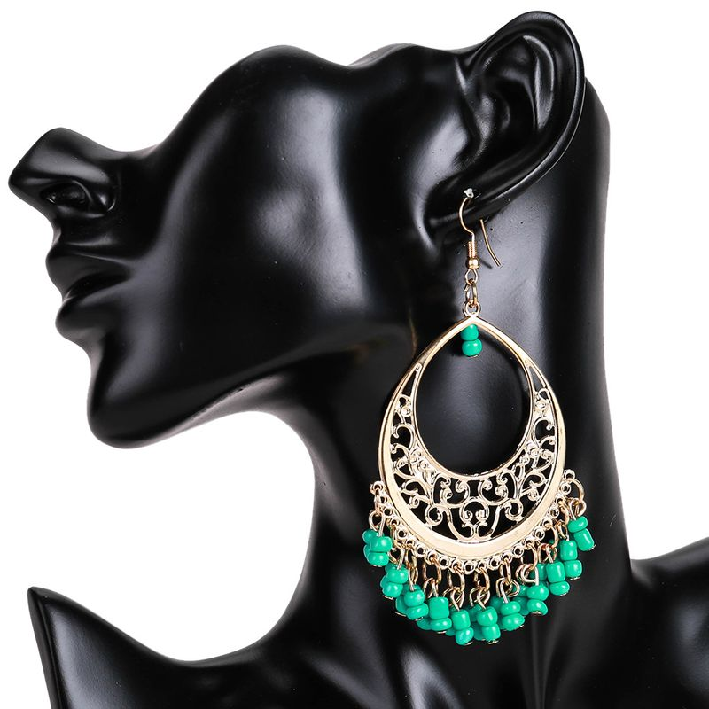 Fashion Alloy plating earring Geometric (green)  NHJE0560-green