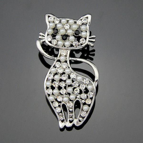 Korea Alloy plating brooch Animal White k White Ag037A  NHDR2275