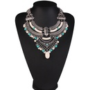 Occident alloy Geometric necklace  Light blue  NHJQ4012