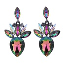 Occident alloy Drop shape earring  AB color  NHJQ7054