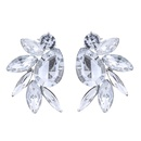 Occident and the United States alloy Rhinestone earring Colorful NHJQ7176
