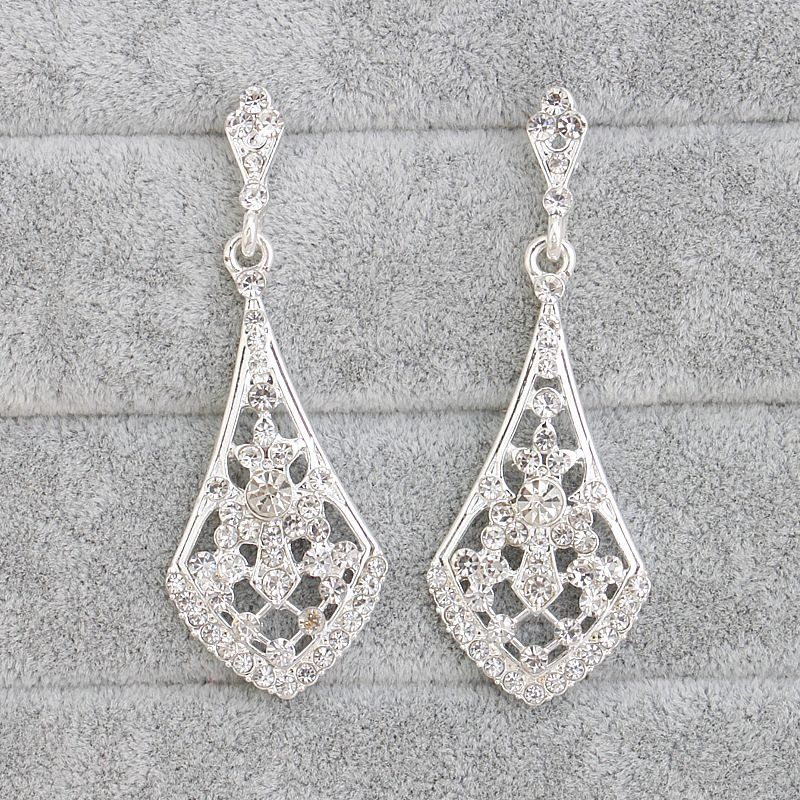 Alloy Fashion Geometric earring  (white) NHHS0008-white