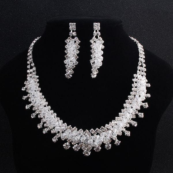 Alloy Fashion  necklace  (white) NHHS0019-white