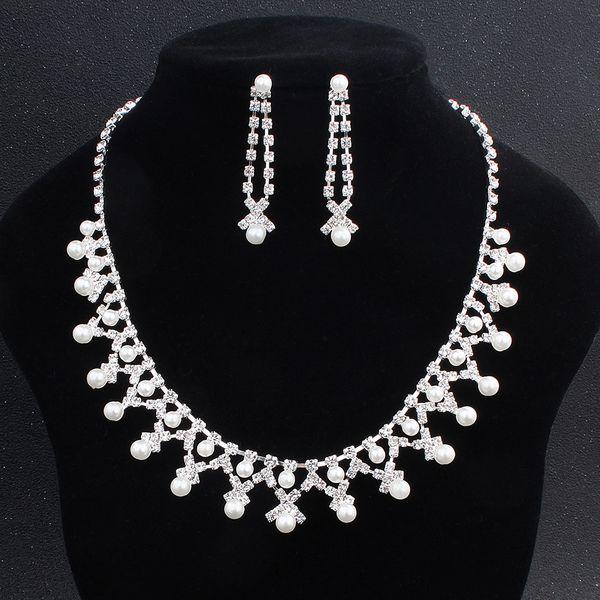 Alloy Fashion  necklace  (white) NHHS0038-white