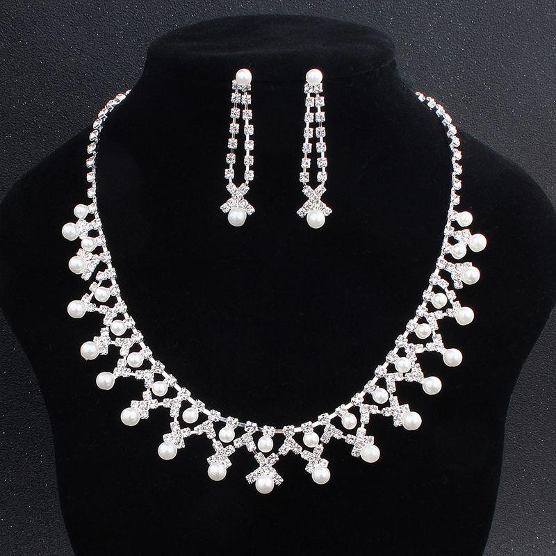 Alloy Fashion  necklace  white NHHS0038white