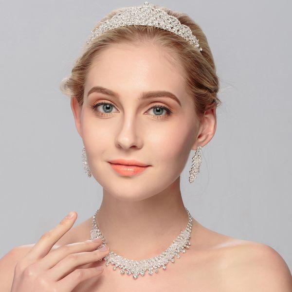Alloy Fashion  necklace  (white) NHHS0040-white