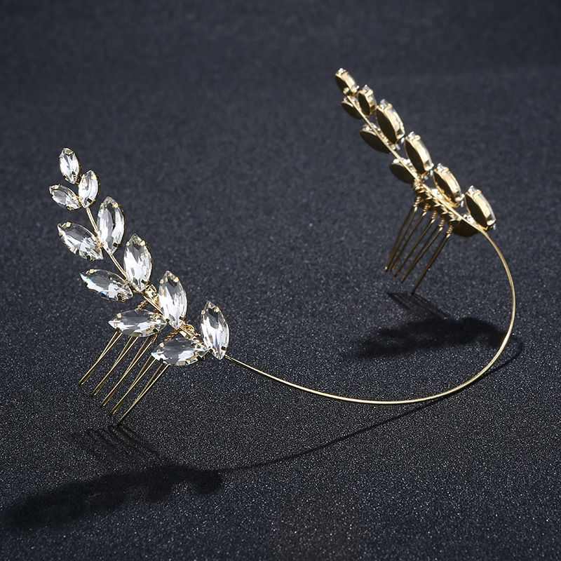 Imitated crystal&CZ Simple Geometric Hair accessories  (Alloy) NHHS0044-Alloy