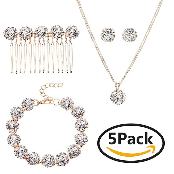 Alloy Fashion  Jewelry Set  (Rose alloy) NHHS0052-Rose alloy