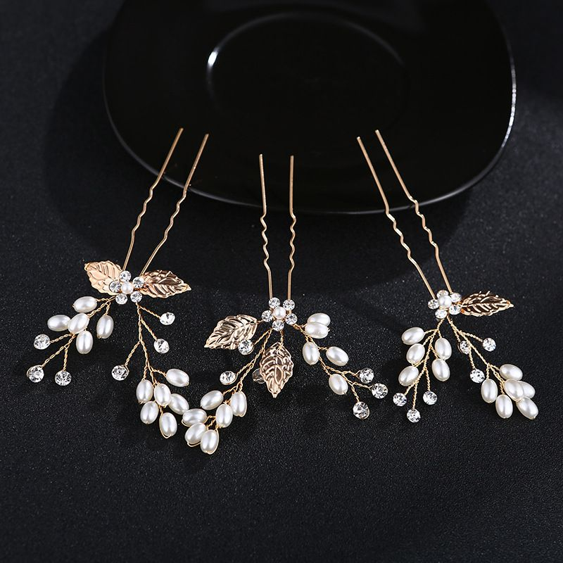 Beads Fashion Geometric Hair accessories  (Alloy) NHHS0064-Alloy