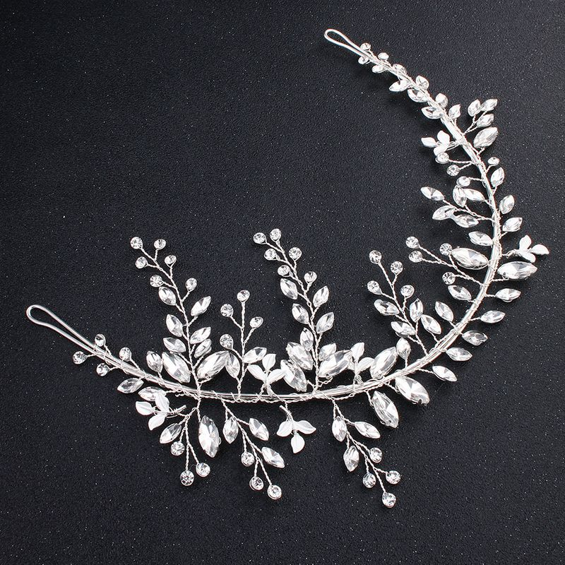 Imitated crystalCZ Fashion Flowers Hair accessories  Alloy NHHS0077Alloy