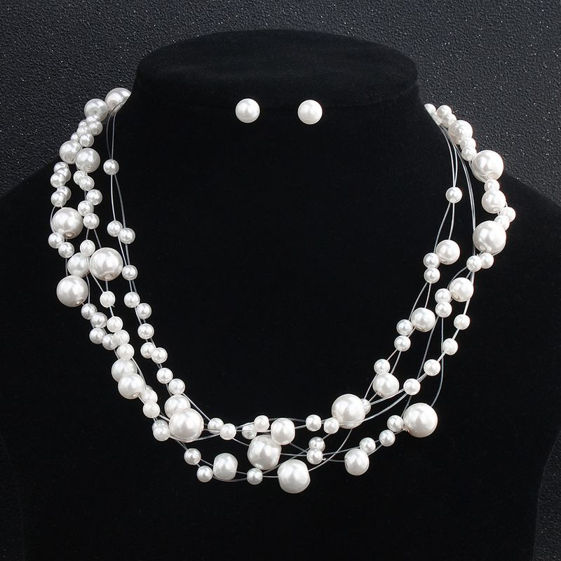 Alloy Fashion  necklace  (white) NHHS0093-white