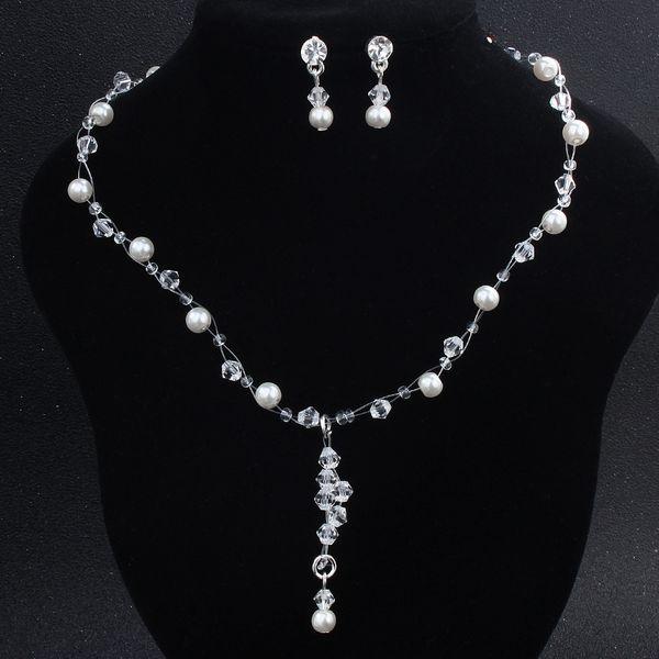 Alloy Fashion  necklace  (white) NHHS0102-white