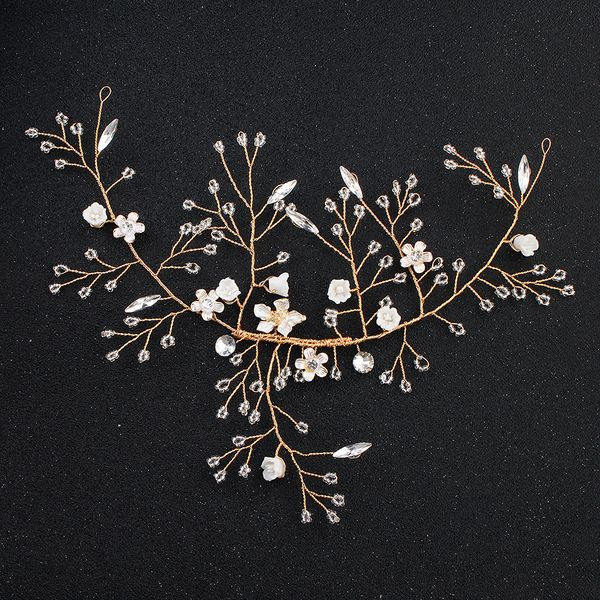 Beads Fashion Flowers Hair accessories  (Alloy) NHHS0116-Alloy