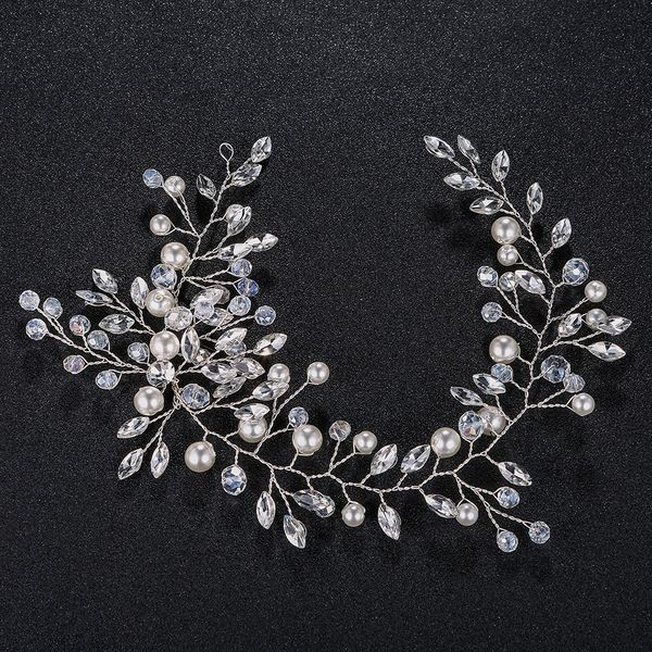 Imitated crystal&CZ Fashion Geometric Hair accessories  (Alloy) NHHS0119-Alloy