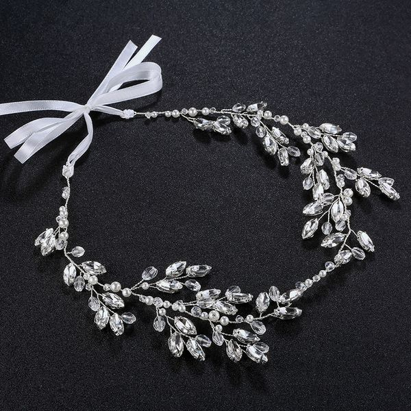 Imitated crystal&CZ Fashion Geometric Hair accessories  (Alloy) NHHS0121-Alloy