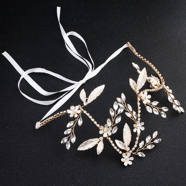 Beads Fashion Flowers Hair accessories  (Rhinestone 4645) NHHS0128-Rhinestone 4645