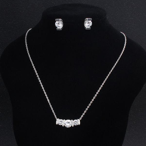 Alloy Fashion  necklace  (white) NHHS0143-white
