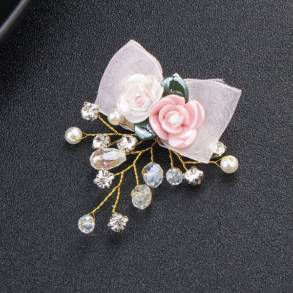 Imitated crystal&CZ Fashion Flowers Hair accessories  (Alloy) NHHS0158-Alloy