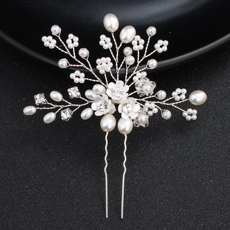 Beads Fashion Flowers Hair accessories  Alloy NHHS0166Alloy