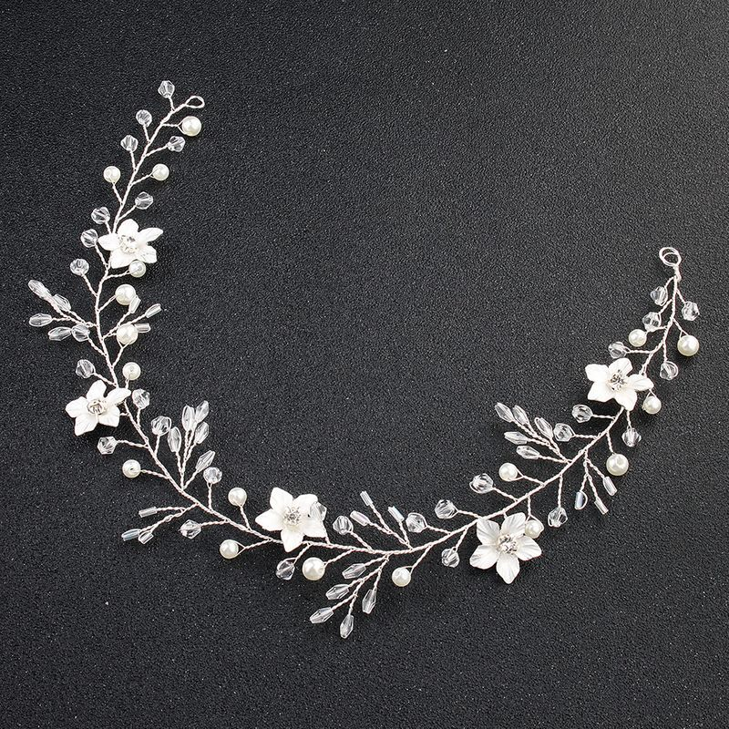 Imitated crystal&CZ Fashion Flowers Hair accessories  (Alloy) NHHS0192-Alloy