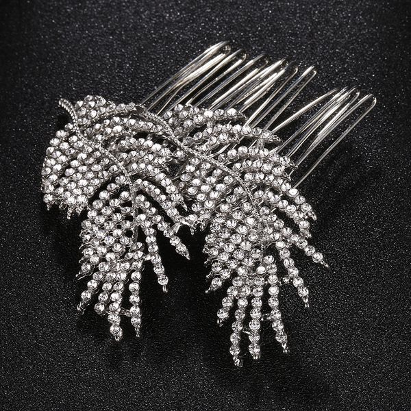 Imitated crystal&CZ Fashion Geometric Hair accessories  (Alloy) NHHS0197-Alloy
