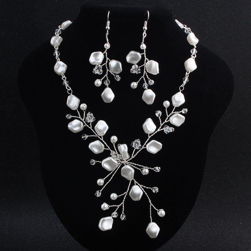 Alloy Fashion  necklace  (white) NHHS0200-white
