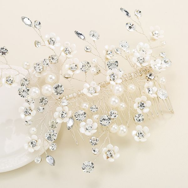Alloy Fashion Flowers Hair accessories  (white) NHHS0230-white