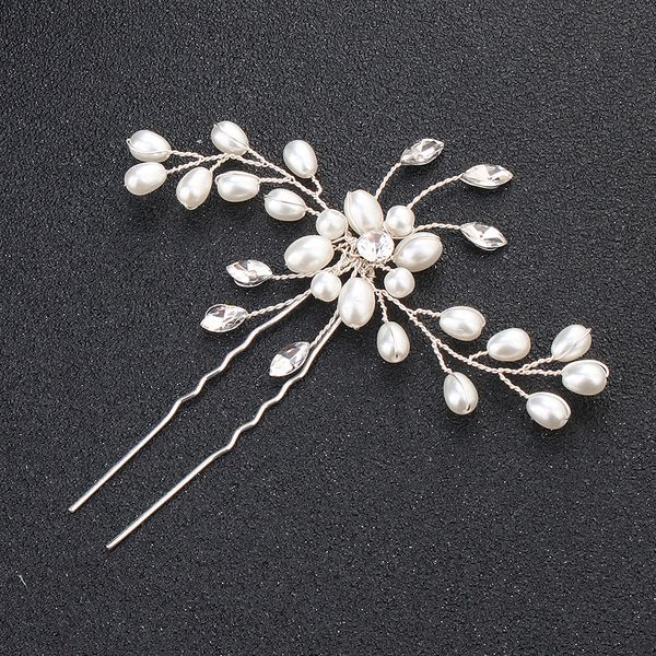 Imitated crystal&CZ Fashion Geometric Hair accessories  (Alloy) NHHS0232-Alloy