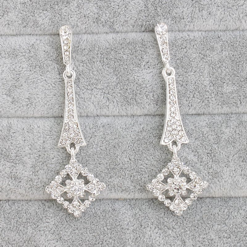 Alloy Fashion Geometric earring  (white) NHHS0250-white