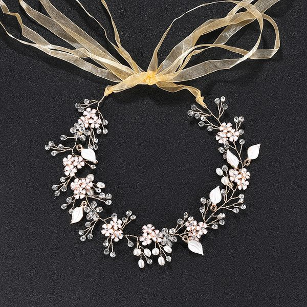 Beads Fashion Flowers Hair accessories  (Alloy) NHHS0285-Alloy