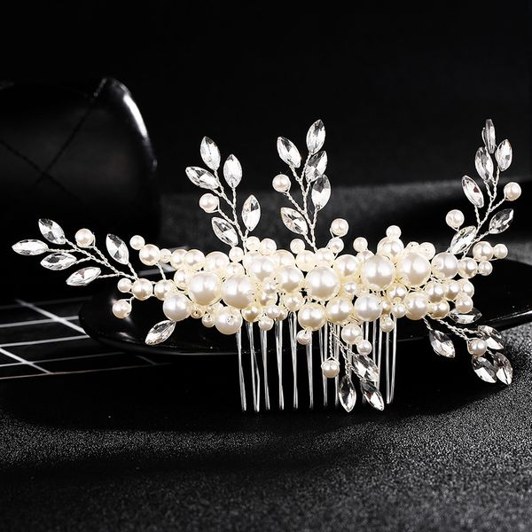 Beads Fashion Geometric Hair accessories  (white) NHHS0307-white