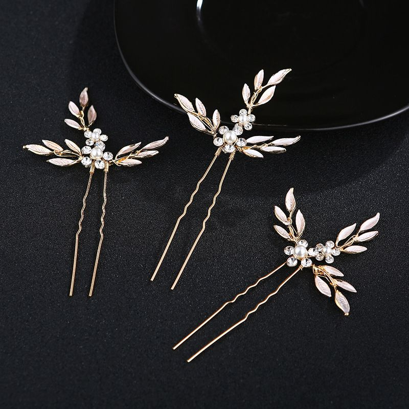 Beads Fashion Geometric Hair accessories  (Alloy) NHHS0310-Alloy