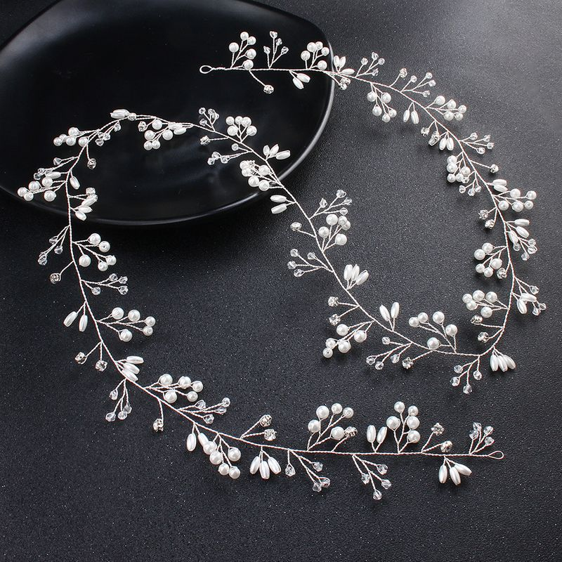 Plastic Simple Geometric Hair accessories  (white) NHHS0323-white