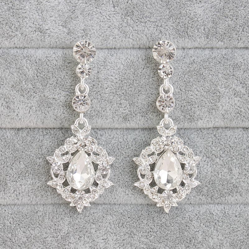 Alloy Fashion Geometric earring  (white) NHHS0348-white