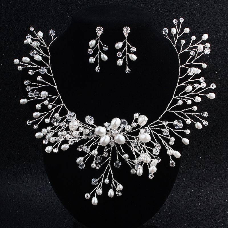 Alloy Fashion  necklace  white NHHS0351white