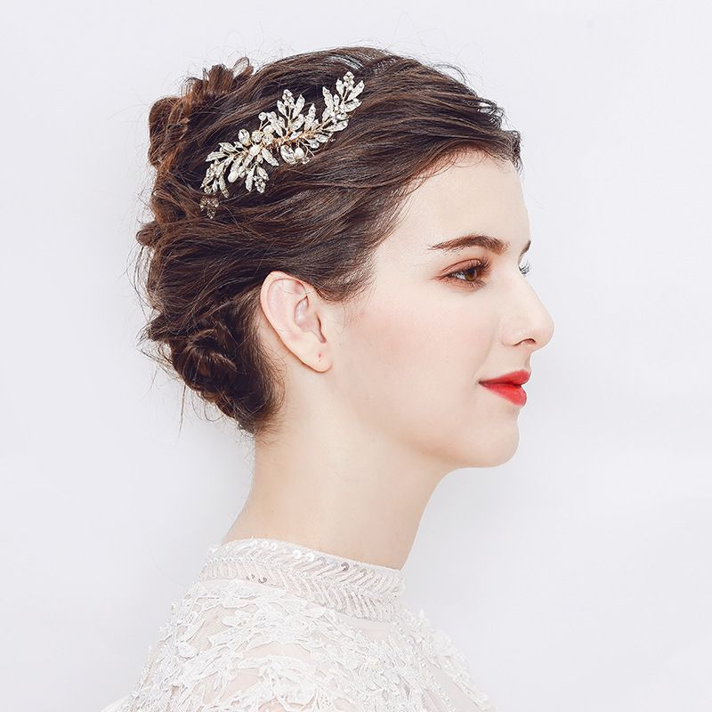 Alloy Fashion Flowers Hair accessories  (Comb) NHHS0350-Comb