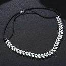 Alloy Fashion Geometric Hair accessories  Elastic hair band with alloy NHHS0012Elastic hair band with alloy