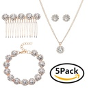 Alloy Fashion  Jewelry Set  Rose alloy NHHS0052Rose alloy