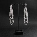 Alloy Fashion Geometric earring  Alloy white rhinestone NHHS0153Alloy white rhinestone