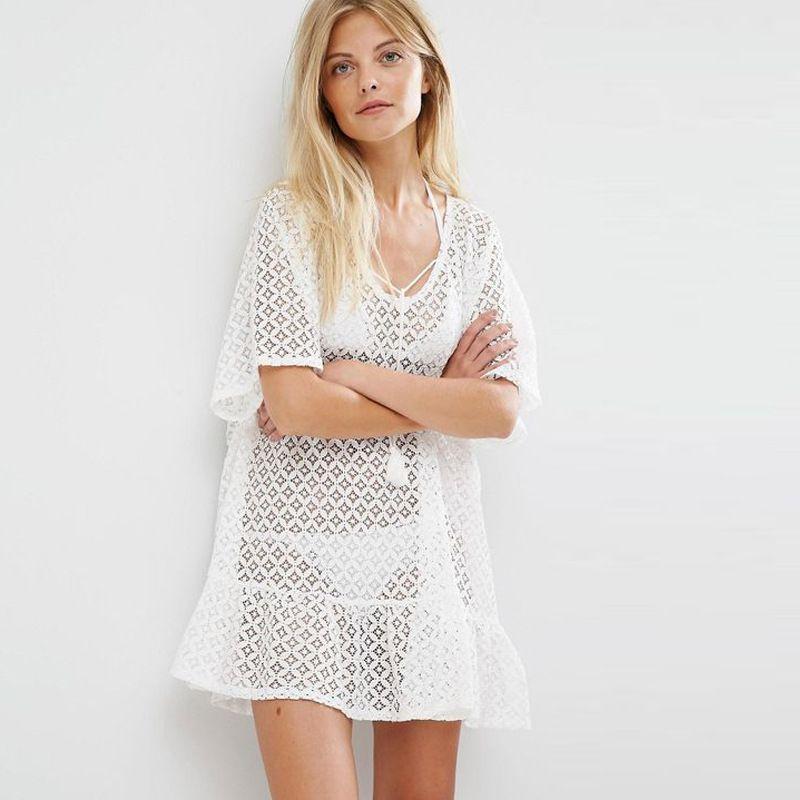 Lace Fashion  coat  White  One Size NHXW0487WhiteOneSize
