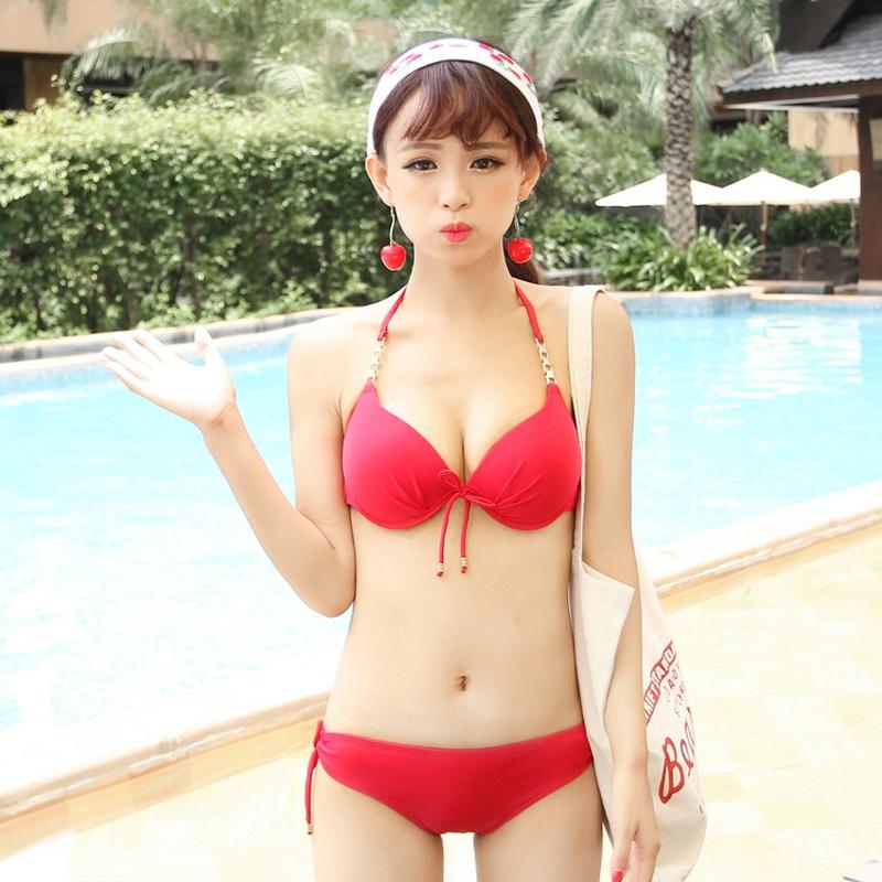 Cotton Korea  Bikini  (Red-M) NHXW0516-Red-M