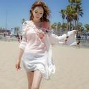 Polyester Fashion  coat  white NHXW0464white