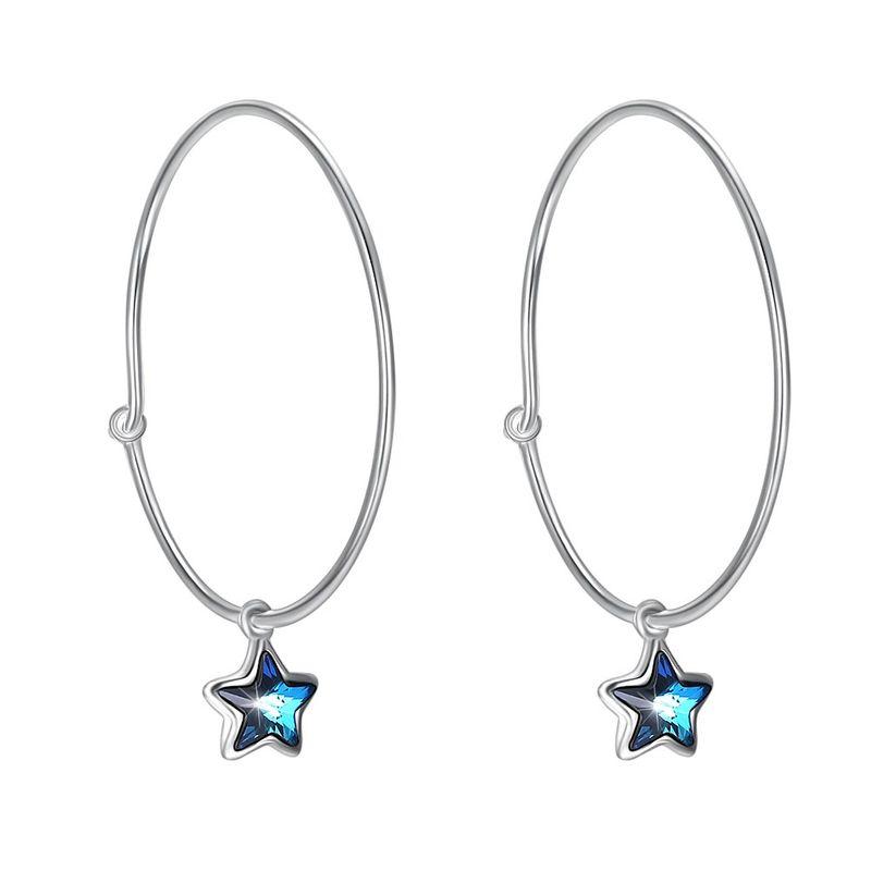 Platinum Plated  Hoop Earrings NHKL13145