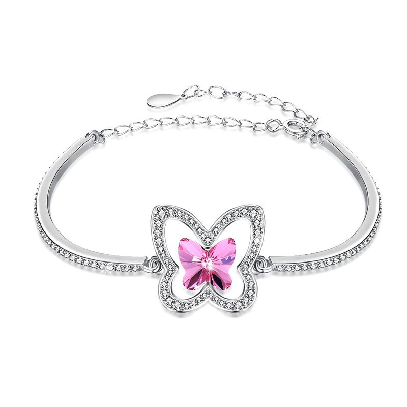 Platinum Plated  Sterling alloy bracelet NHKL13155A
