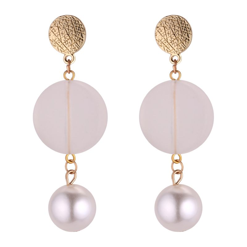 Korean personality wild round beads earrings NHNPS4341